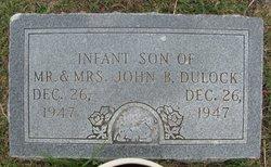 Infant Son Dulock