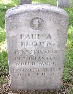 PFC Paul A. Brown