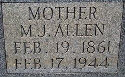 Martha Jane <i>Melton</i> Allen