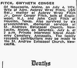 Gwyneth <i>Conger</i> Fitch