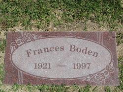 Frances J <i>Brown</i> Boden