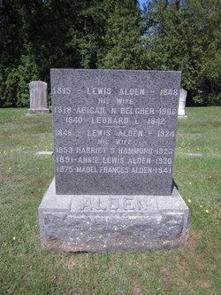 Abigail N <i>Belcher</i> Alden