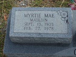 Myrtie Mae <i>Mauldin</i> Coble