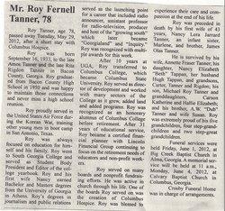 Roy Fernell Tanner