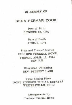 Rena Permar <i>Bucy</i> Zook