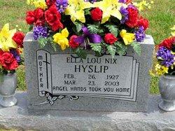 Ella Lou <i>Nix</i> Hyslip