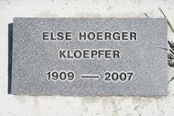 Else <i>Hoerger</i> Kloepfer