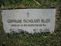 Gertrude <i>Nicholson</i> Allen