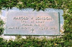 Harold Wesley London
