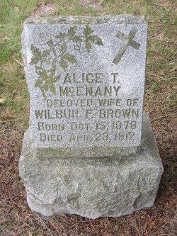 Alice T <i>McEnany</i> Brown