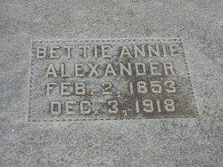 Bettie Annie <i>Berry</i> Alexander