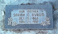 Sarah E Byrum