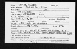 Pvt William Carter