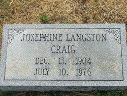 Josephine <i>Langston</i> Craig