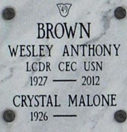 LCDR Wesley Anthony Brown