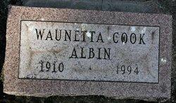 Waunetta <i>Cook</i> Albin