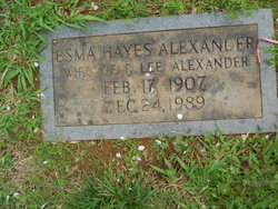 Esma <i>Hayes</i> Alexander