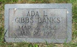 Ada Linwood Gibbs <i>Jones</i> Banks