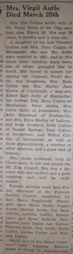 Ella <i>Collins</i> Antle