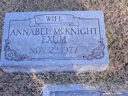 Annabel <i>McKnight</i> Exum