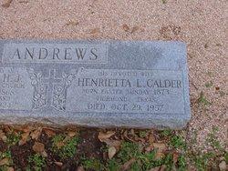 Henrietta Lamar <i>Calder</i> Andrews