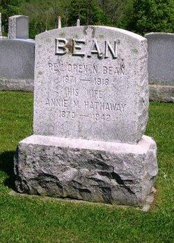 Annie M <i>Hathaway</i> Bean