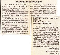Kenneth Bartholomew