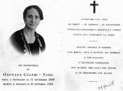 Gaetana <i>Cesari</i> Nizzi