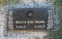 Mattie Lou <i>Whiteley</i> Saner