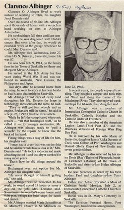 Clarence O. Albinger