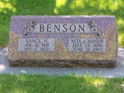 Neta J <i>Hansen</i> Benson