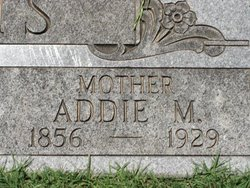 Addie M <i>Cole</i> Adams