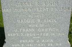 Sarah Jane <i>Johnson</i> Aikin