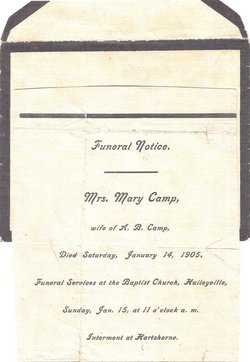 Mary Elizabeth <i>Kemp</i> Camp
