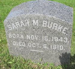 Sarah M <i>Unckles</i> Burke