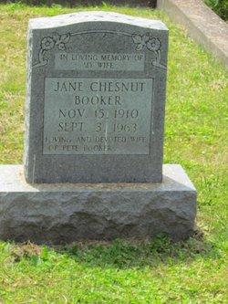Jane <i>Chesnut</i> Booker