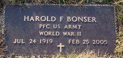 Harold F Bonser
