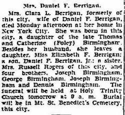 Clara L <i>Birmingham</i> Berrigan