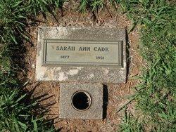 Sarah Ann <i>Britton</i> Cade