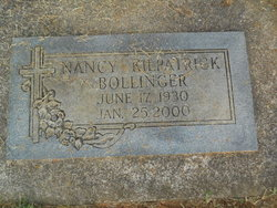 Nancy <i>Kilpatrick</i> Bollinger