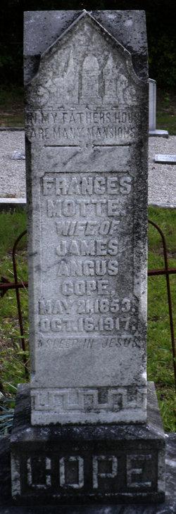 Frances Motte <i>Salley</i> Cope