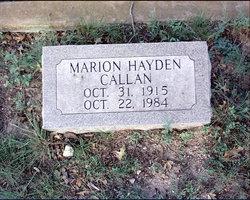 Marion Hayden Callan