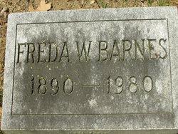 Fredericka W Freda <i>Grener</i> Barnes