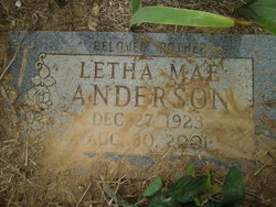 Letha Mae Anderson