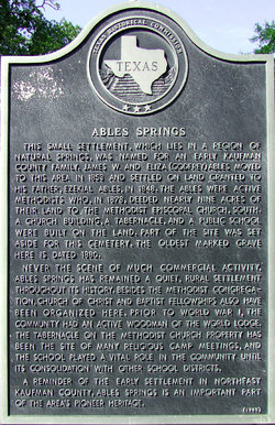 Ables Springs Cemetery