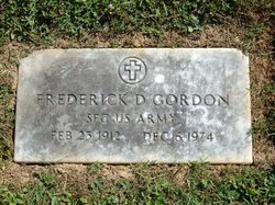 Frederick D Gordon