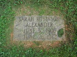 Sarah <i>Robinson</i> Alexander
