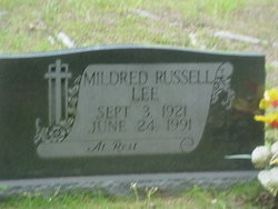 Mildred Faye <i>Russell</i> Lee