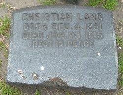 Christian Johann Friedrich Lang