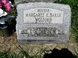 Margaret E <i>Wolford</i> Baker